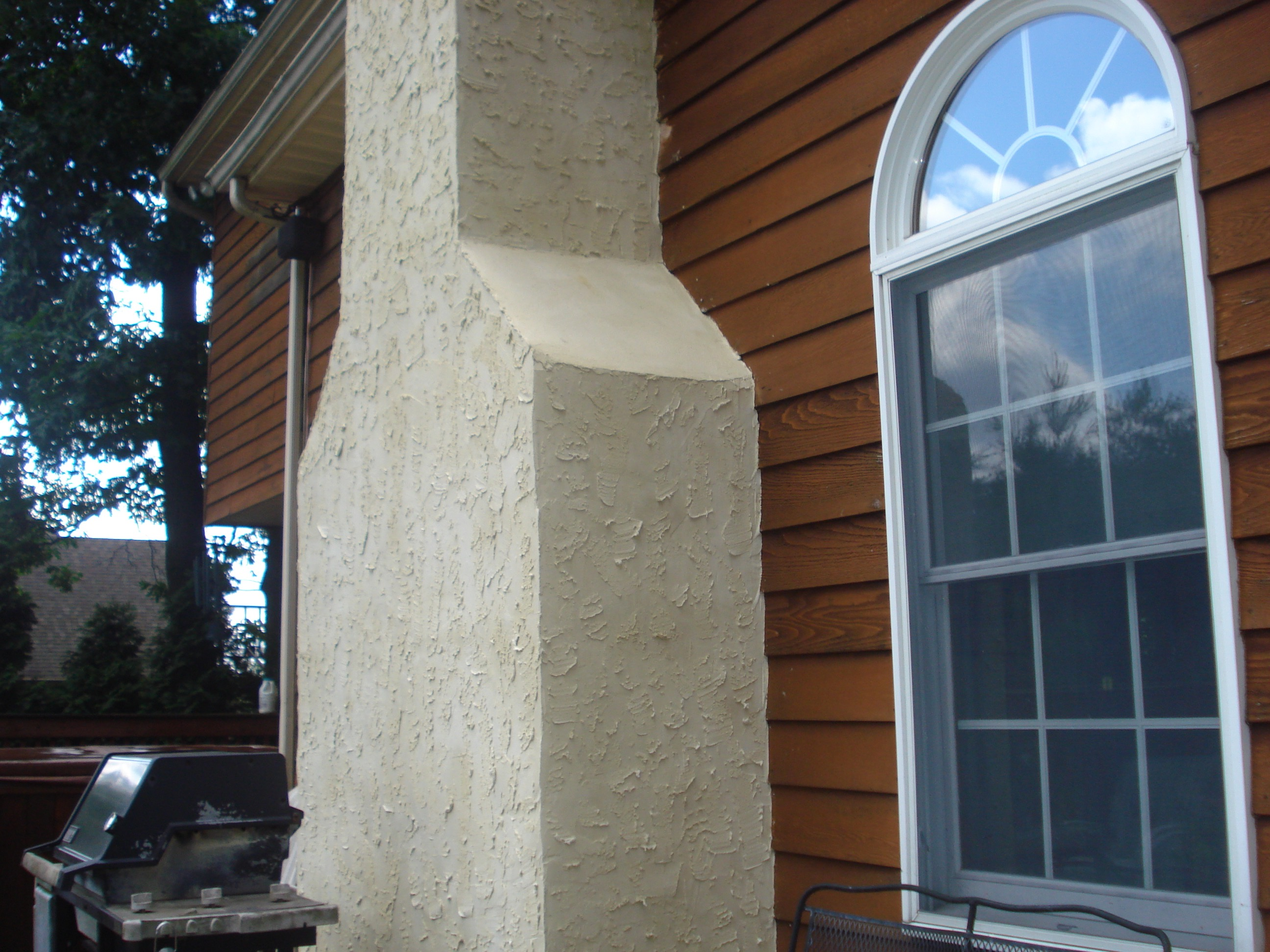 Custom Stucco Chimney